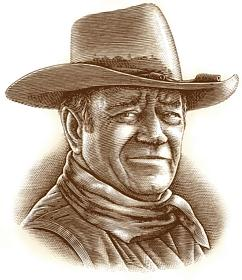 Drawing of John Wayne