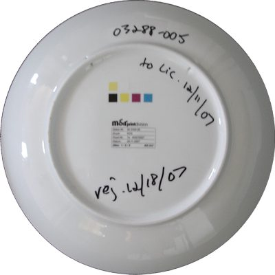 Reverse of above plate