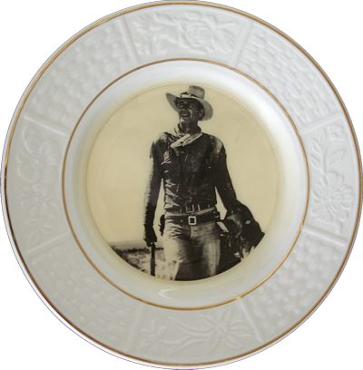 UK John Wayne plate
