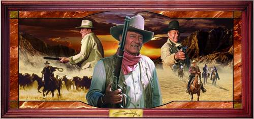 John Wayne Wall Display by Bradford Exchange